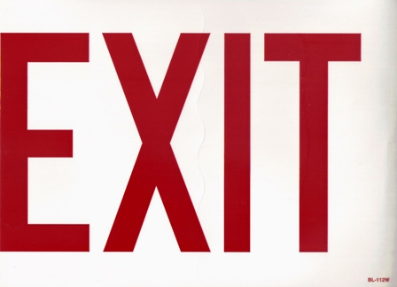 Sign, Exit, 8 in. X 12 in. - Click Image to Close